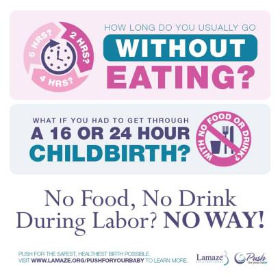 eat in labor